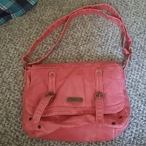Roxy pink messenger purse